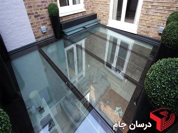 کف شیشه ای, سقف شیشه ای