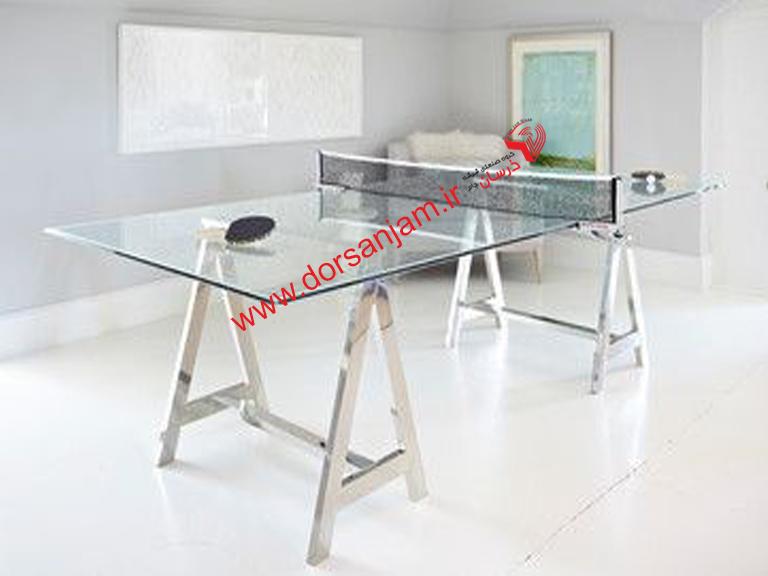 میز پینگ پنگ شیشه ای درسان جام