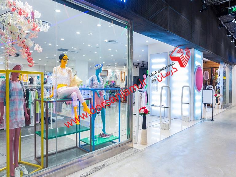 اجرای شیشه سکوریت فروشگاهی