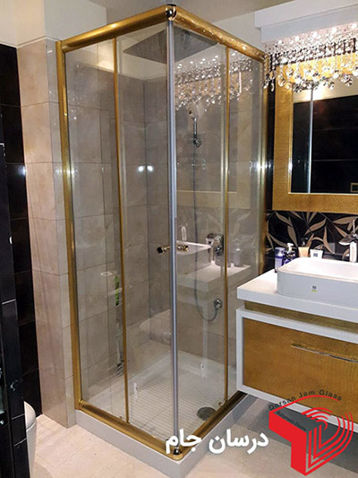 درب شیشه ای حمام | دور دوشی