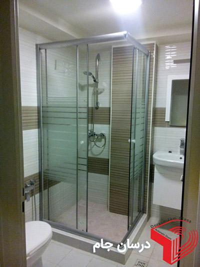 درب کشویی شیشه ای حمام